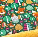 "KOCYK ""L"" 140*110CM, RED FOX CUB /MANGO/"